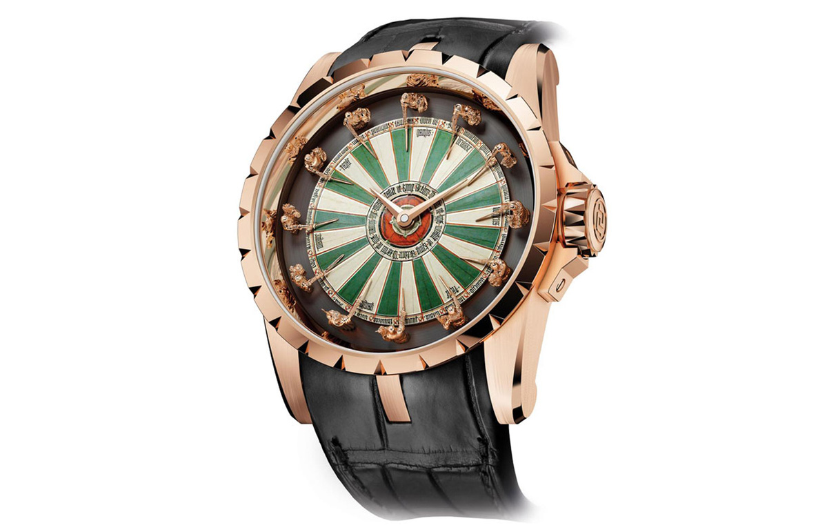 rose gold roger dubuis excalibur table ronde replica watches cheap sale